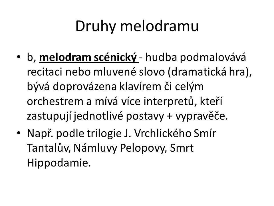Druhy melodramu