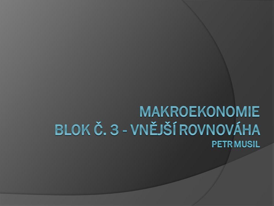 Makroekonomie Blok č. 3 - VNĚJŠÍ ROVNOVÁHA Petr musil