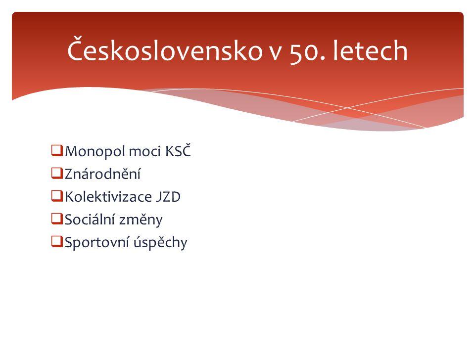 Československo v 50. letech