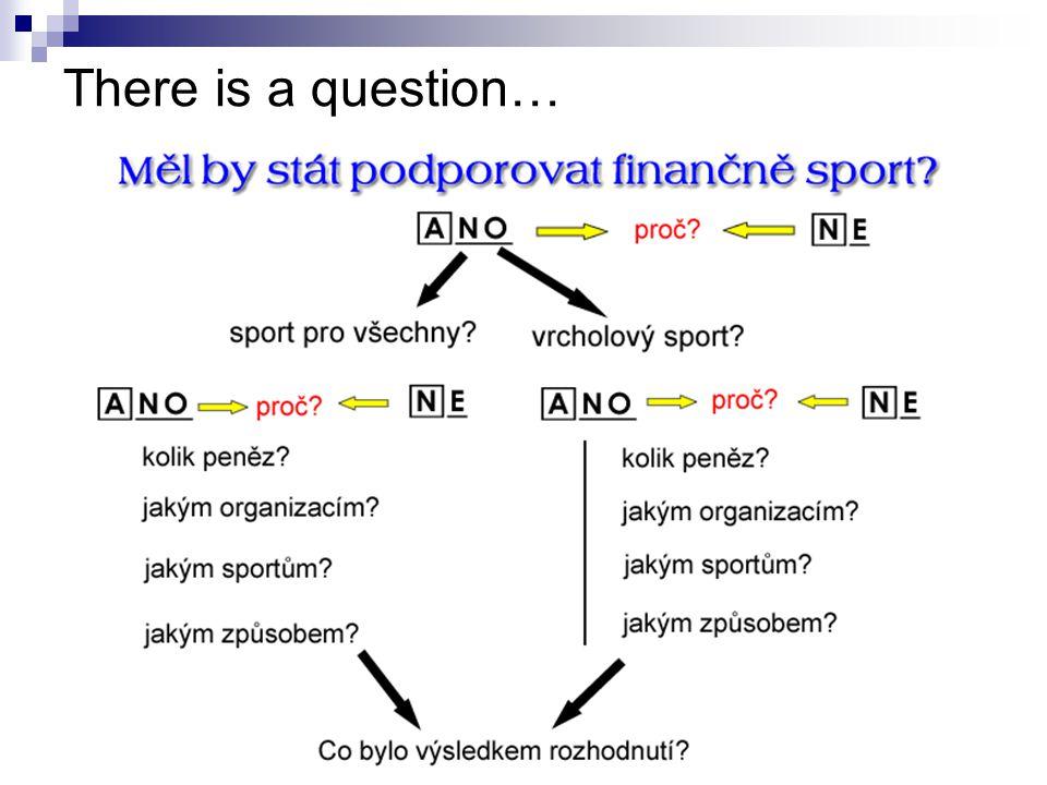 """There is a question… V jakém poměru """"sport pro všechny x """"vrcholový sport"""