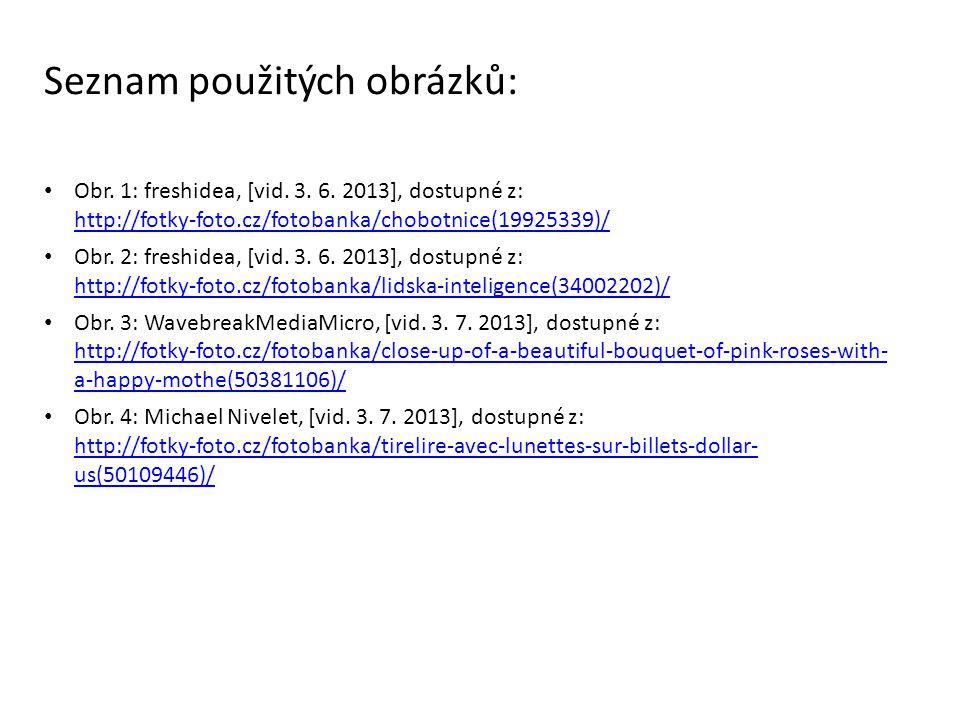 Seznam použitých obrázků: