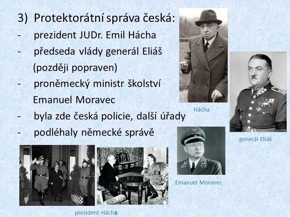 Protektorátní správa česká:
