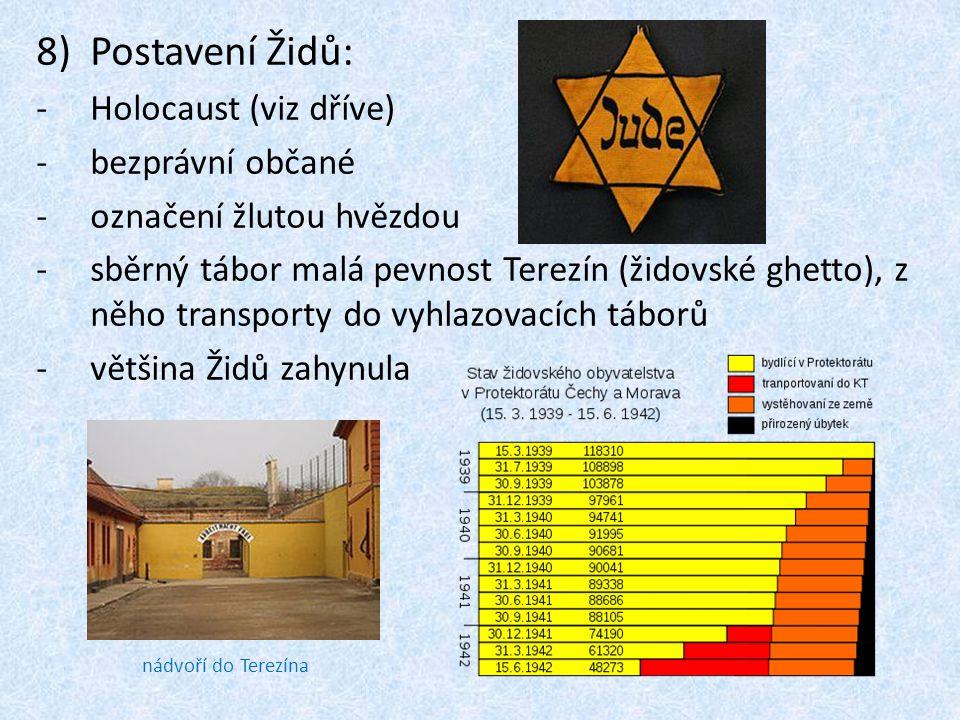 Postavení Židů: Holocaust (viz dříve) bezprávní občané