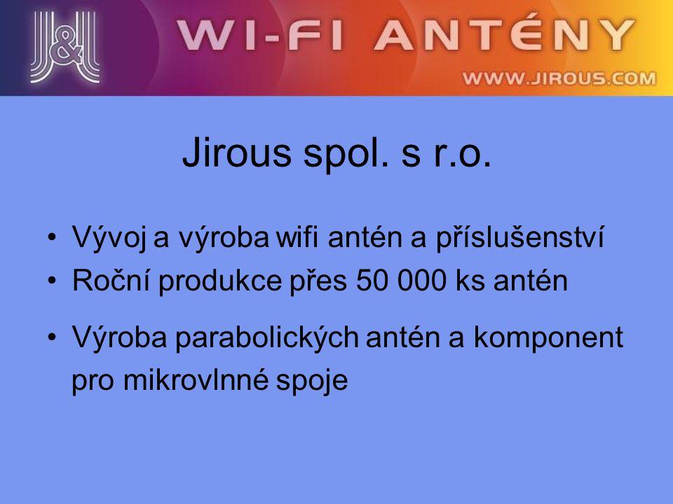 Jirous spol. s r.o. Vývoj a výroba wifi antén a příslušenství