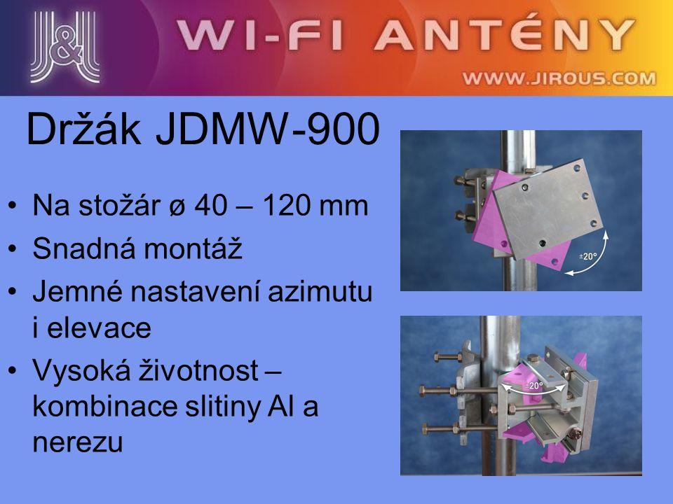 Držák JDMW-900 Na stožár ø 40 – 120 mm Snadná montáž