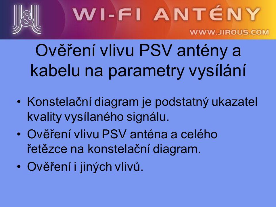 Ověření vlivu PSV antény a kabelu na parametry vysílání