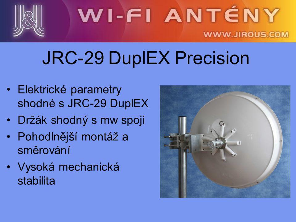 JRC-29 DuplEX Precision Elektrické parametry shodné s JRC-29 DuplEX