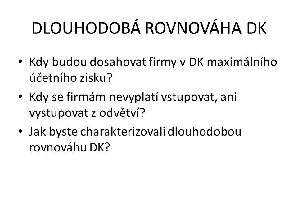 DLOUHODOBÁ ROVNOVÁHA DK
