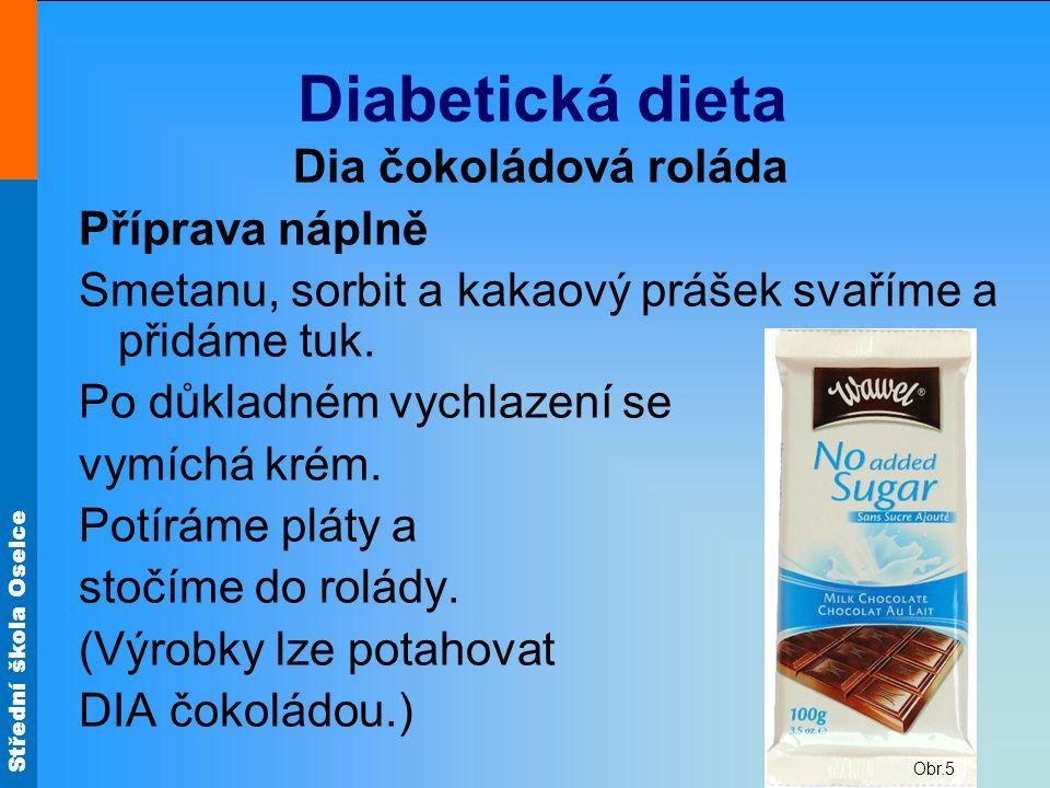 Diabetická dieta Dia čokoládová roláda Příprava náplně