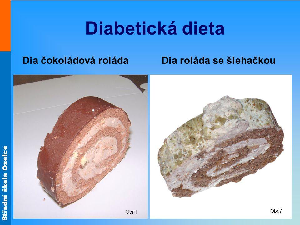 Diabetická dieta Dia čokoládová roláda Dia roláda se šlehačkou Obr.1