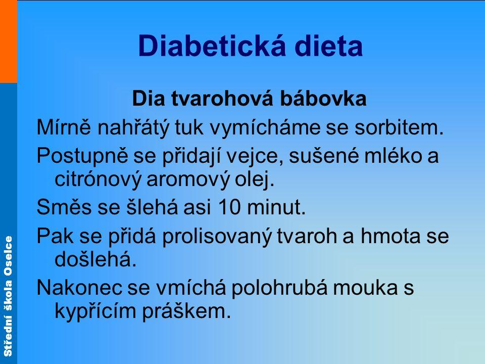 Diabetická dieta Dia tvarohová bábovka
