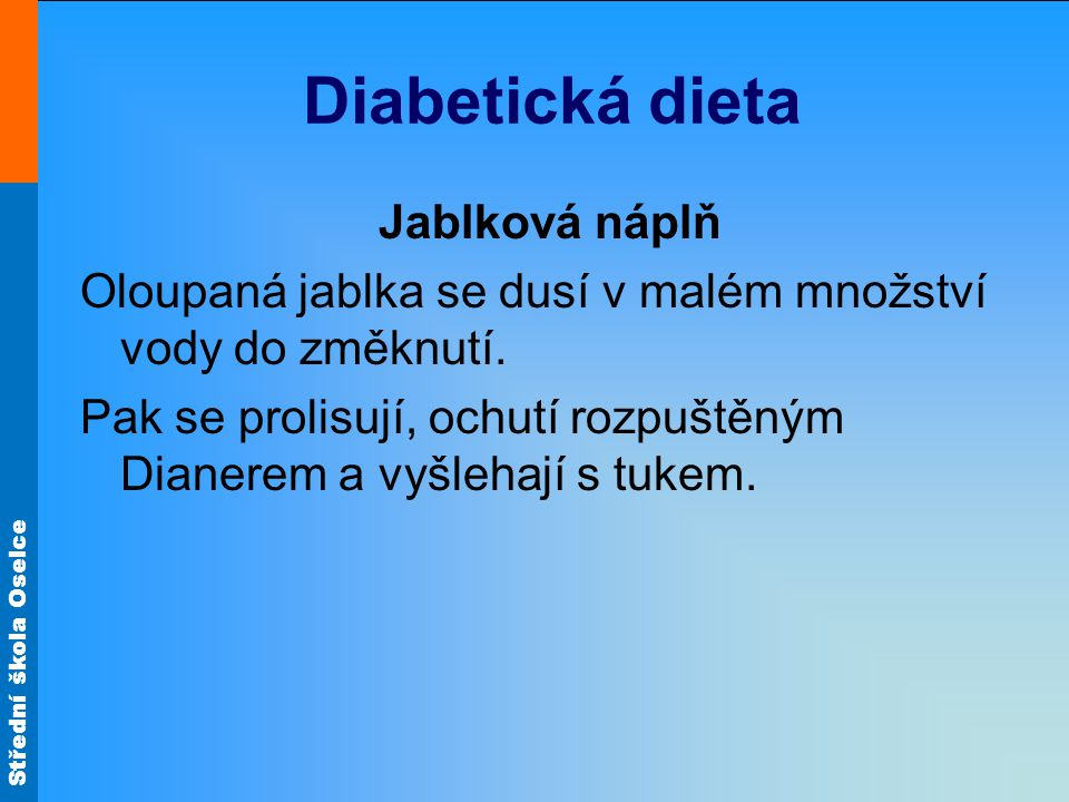 Diabetická dieta Jablková náplň