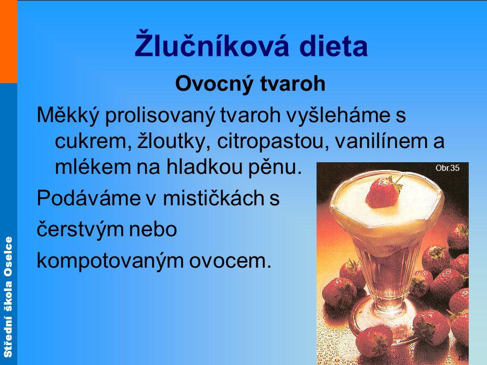 Žlučníková dieta Ovocný tvaroh