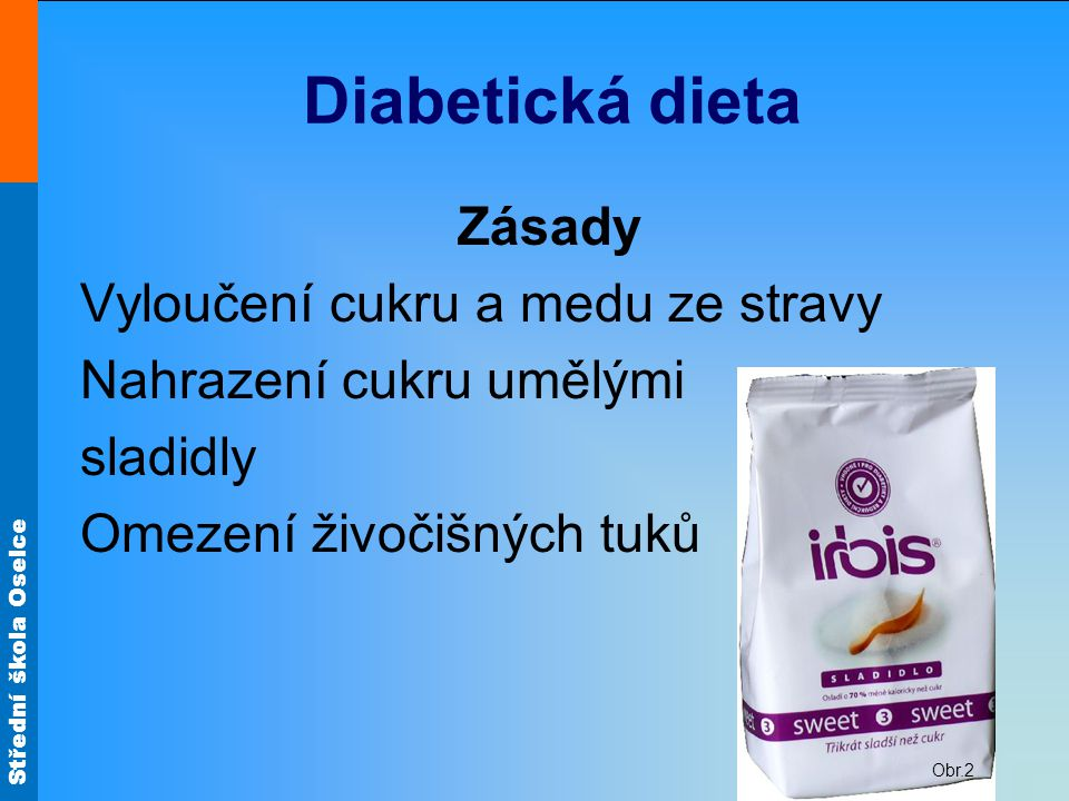 Diabetická dieta Zásady Vyloučení cukru a medu ze stravy