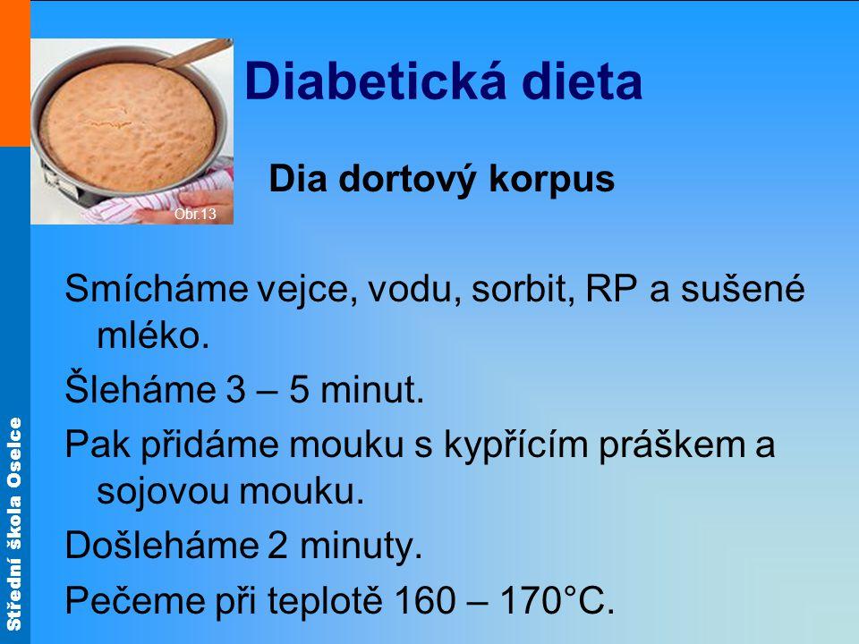 Diabetická dieta Dia dortový korpus