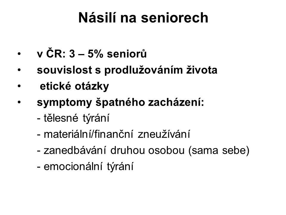 Násilí na seniorech v ČR: 3 – 5% seniorů