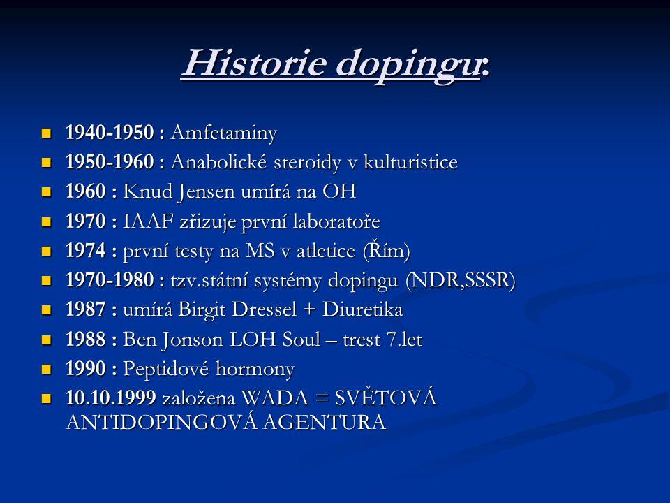 Historie dopingu: 1940-1950 : Amfetaminy