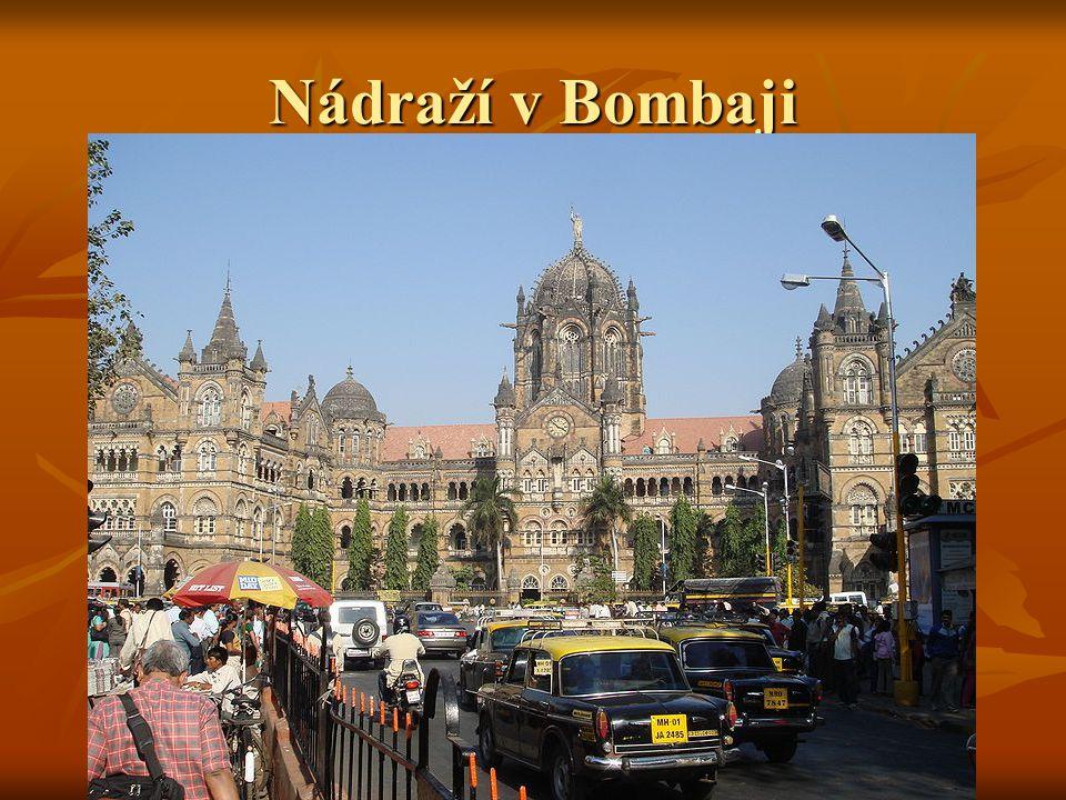 Nádraží v Bombaji