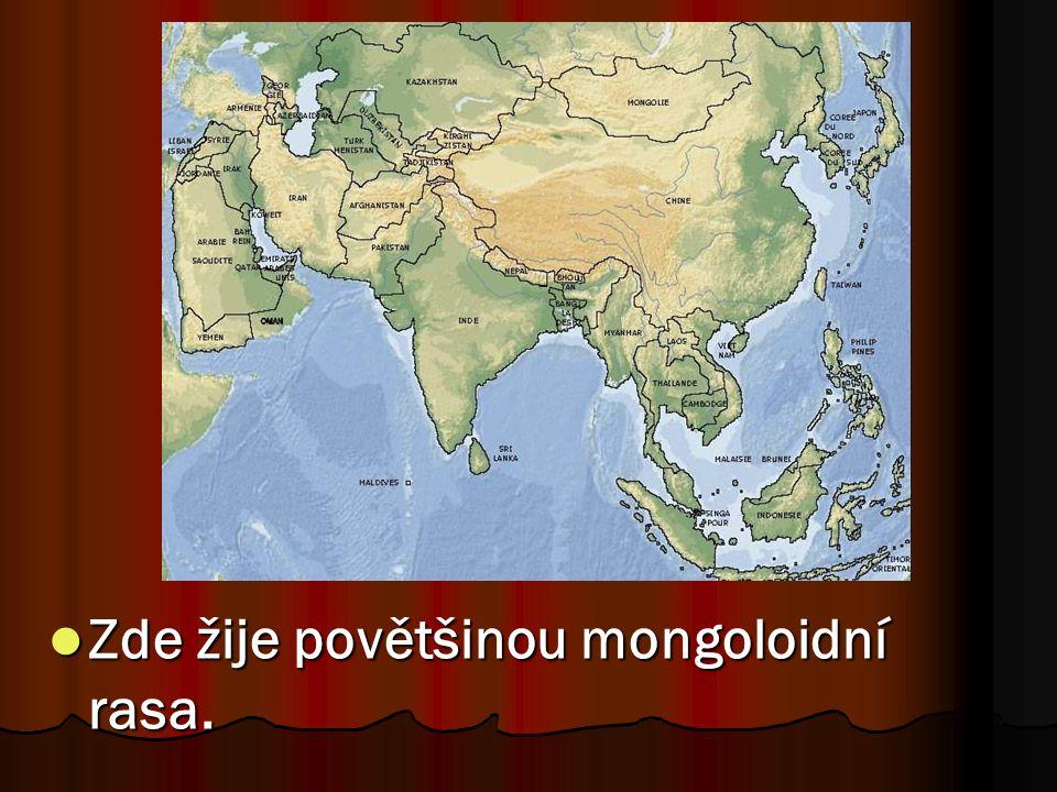 Zde žije povětšinou mongoloidní rasa.