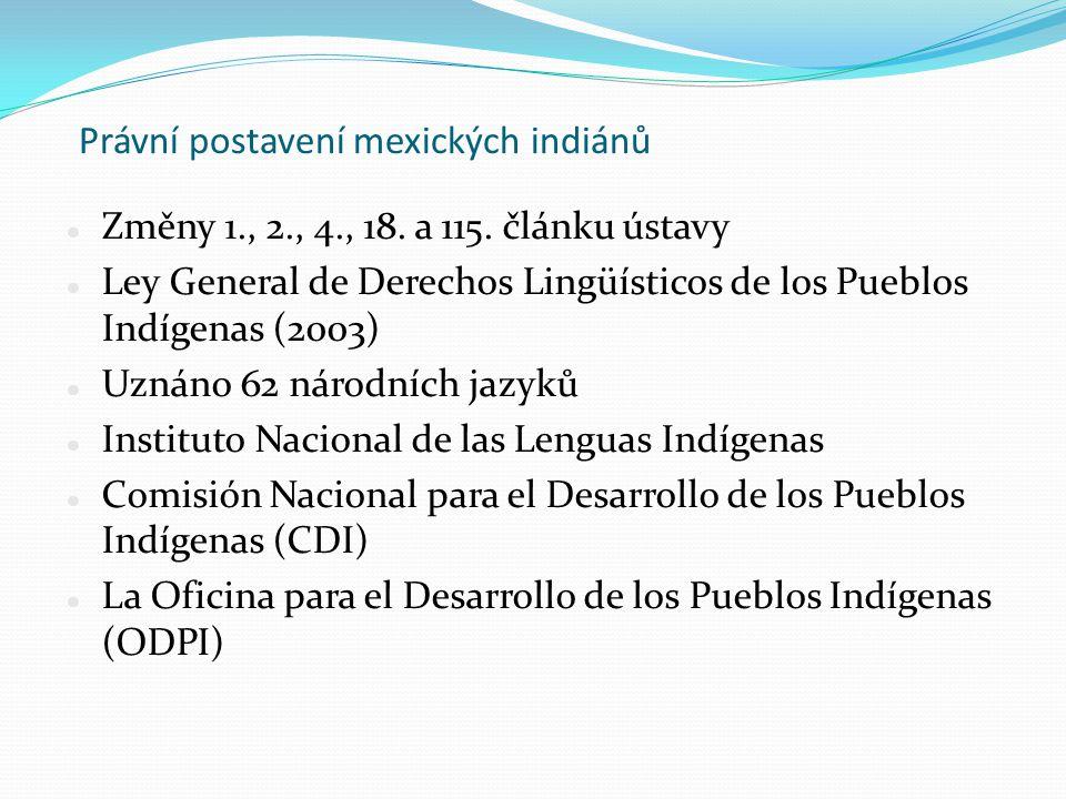 Právní postavení mexických indiánů