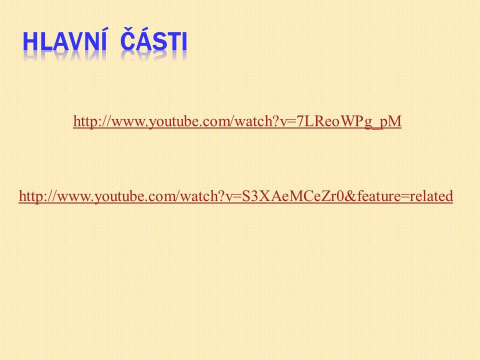 Hlavní části http://www.youtube.com/watch v=7LReoWPg_pM