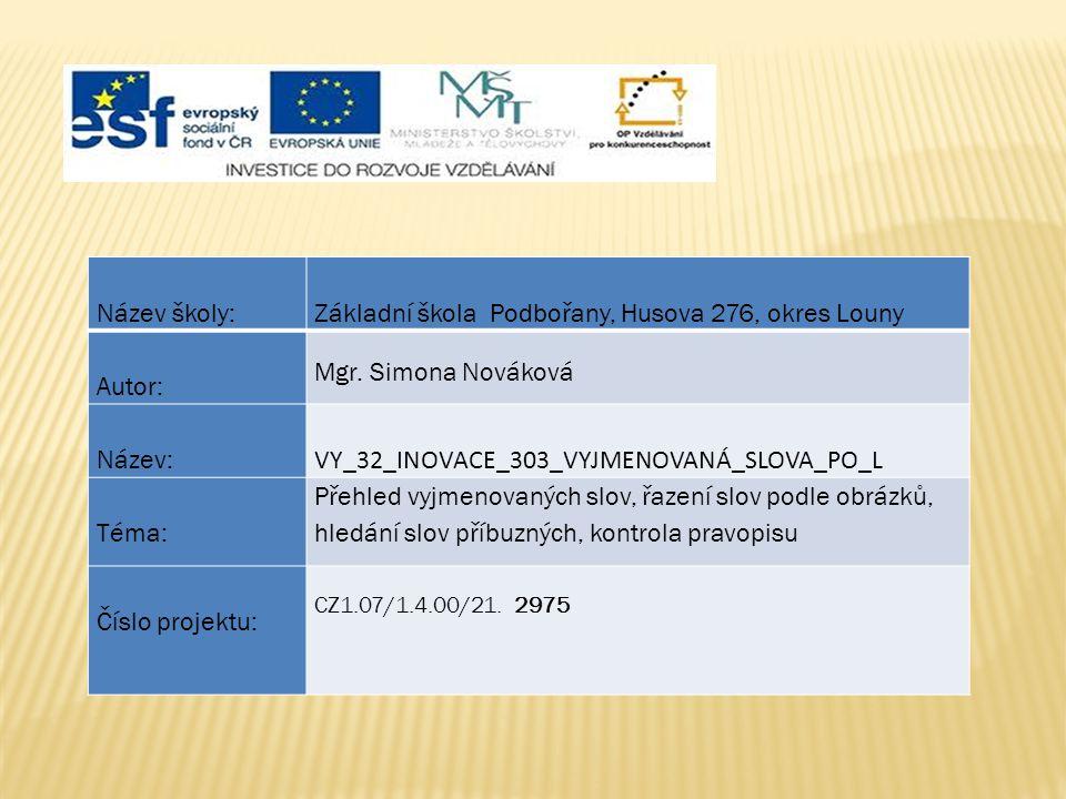 Základní škola Podbořany, Husova 276, okres Louny Autor:
