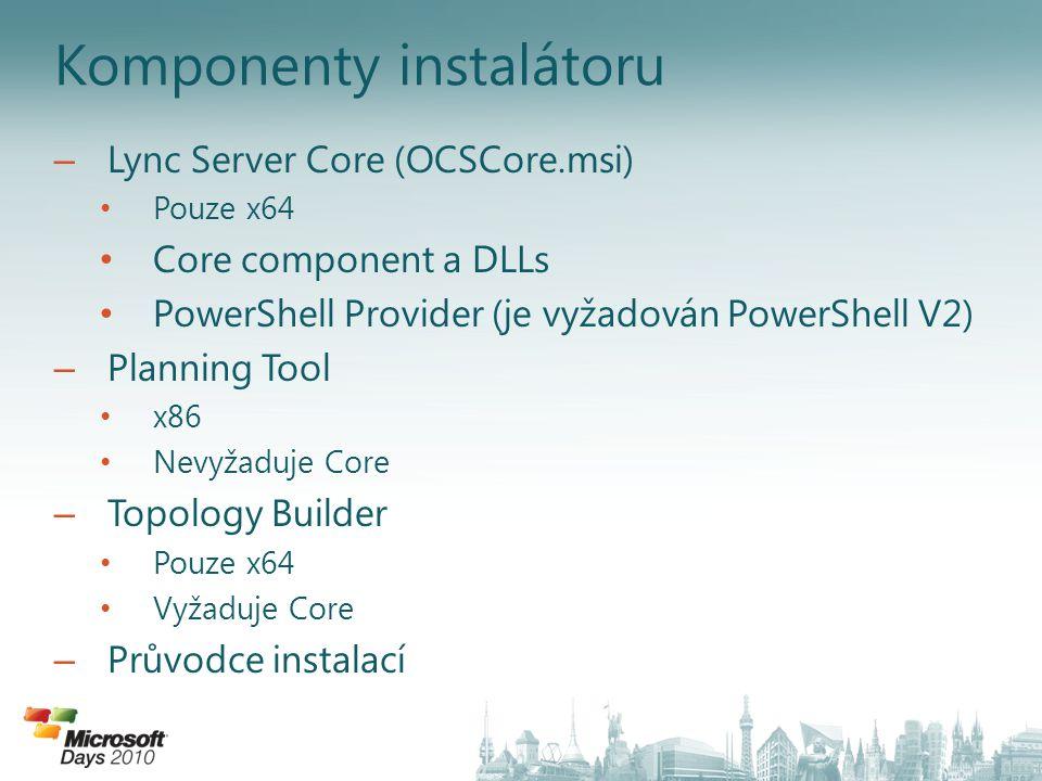 Komponenty instalátoru