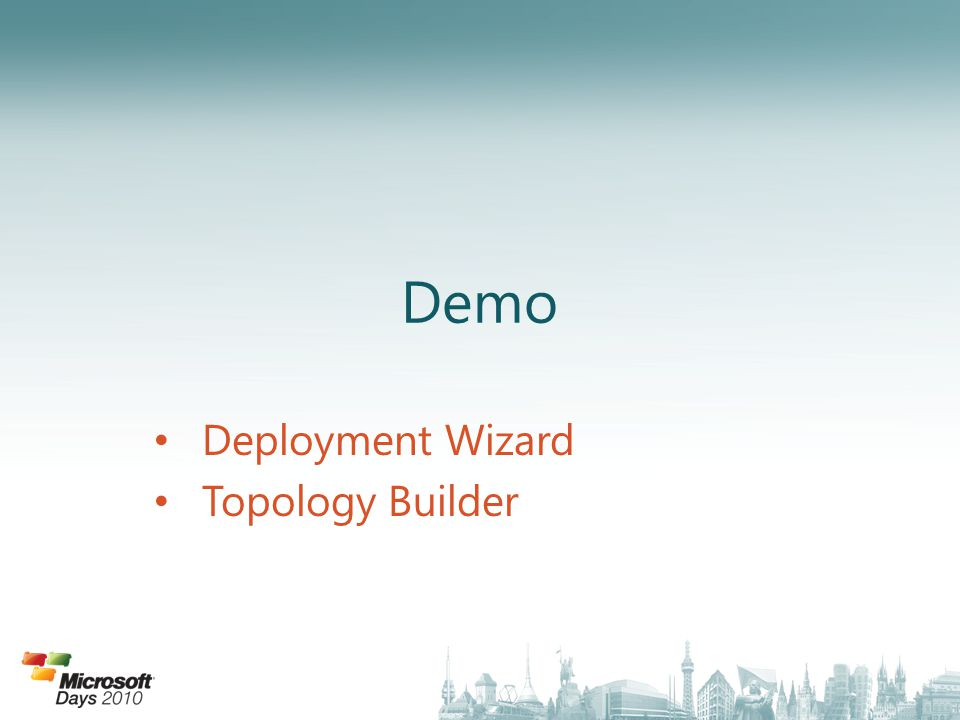 Deployment Wizard Topology Builder