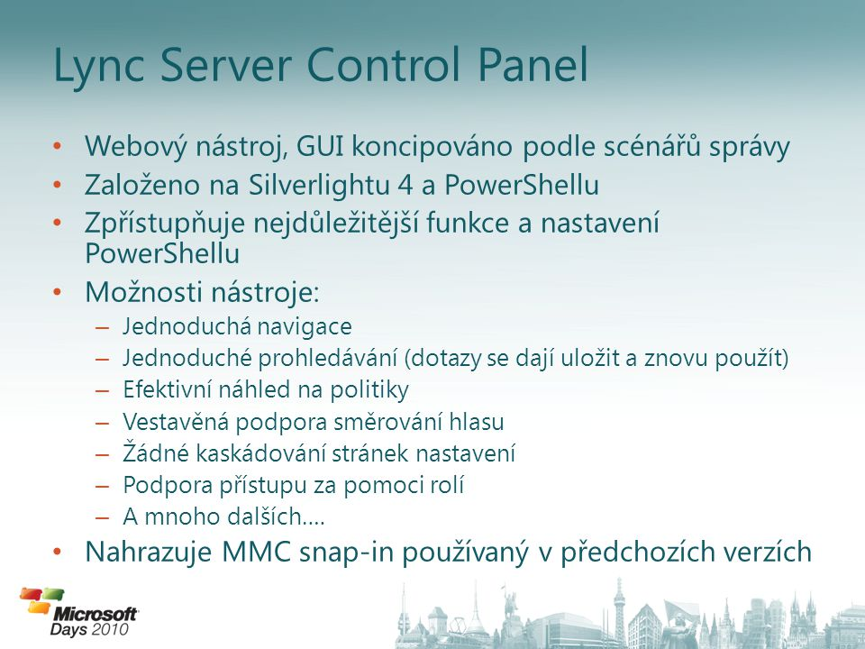 Lync Server Control Panel