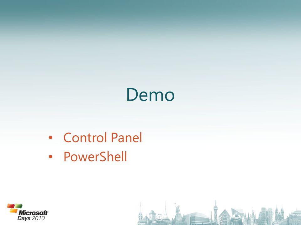 Control Panel PowerShell