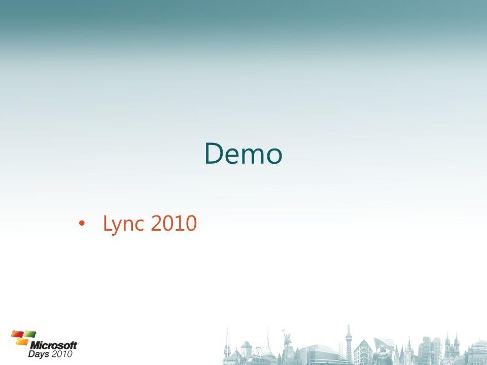Demo Lync 2010