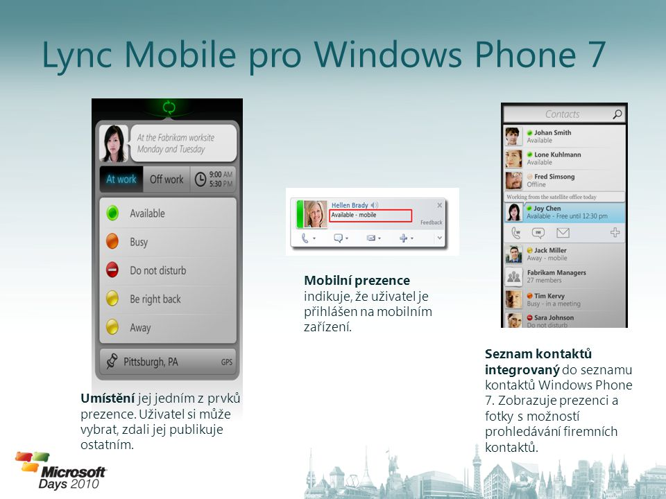 Lync Mobile pro Windows Phone 7