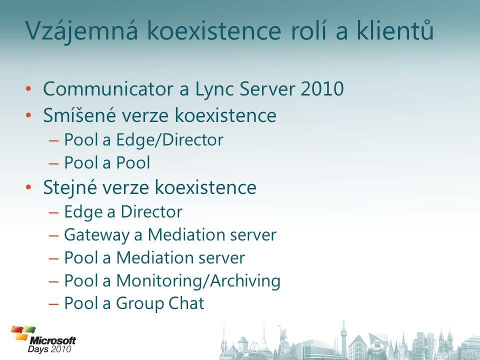 Vzájemná koexistence rolí a klientů