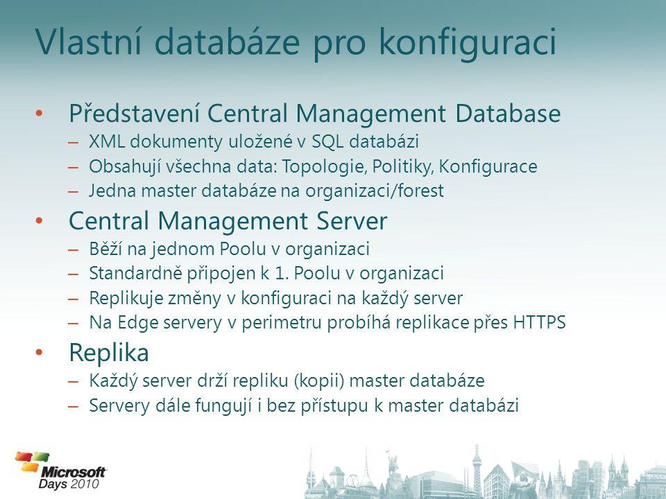 Vlastní databáze pro konfiguraci