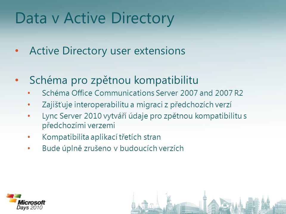 Data v Active Directory