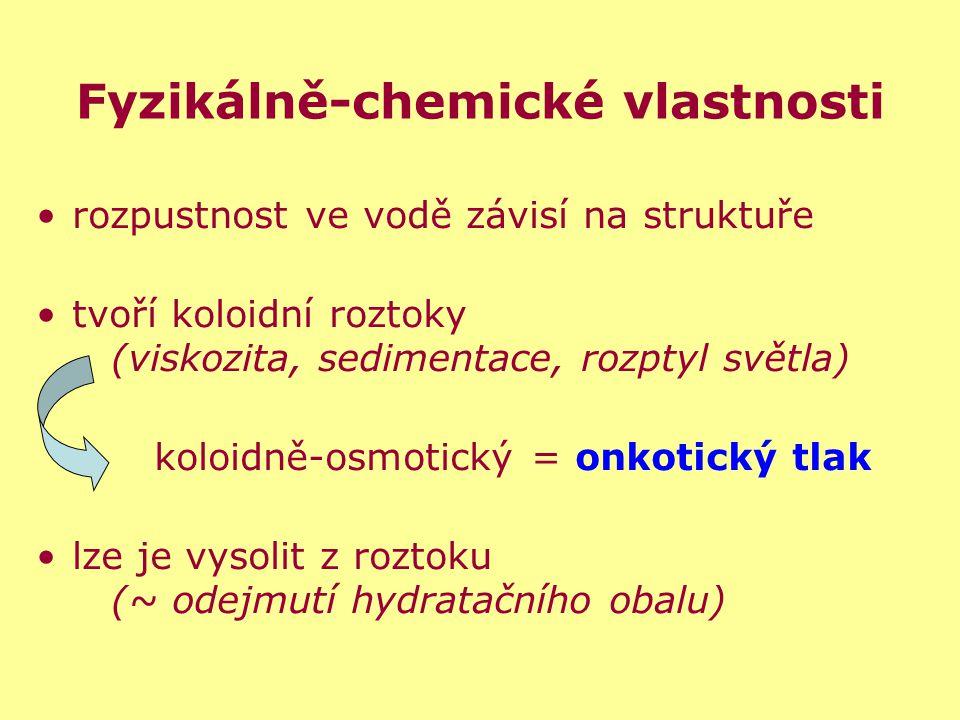Fyzikálně-chemické vlastnosti