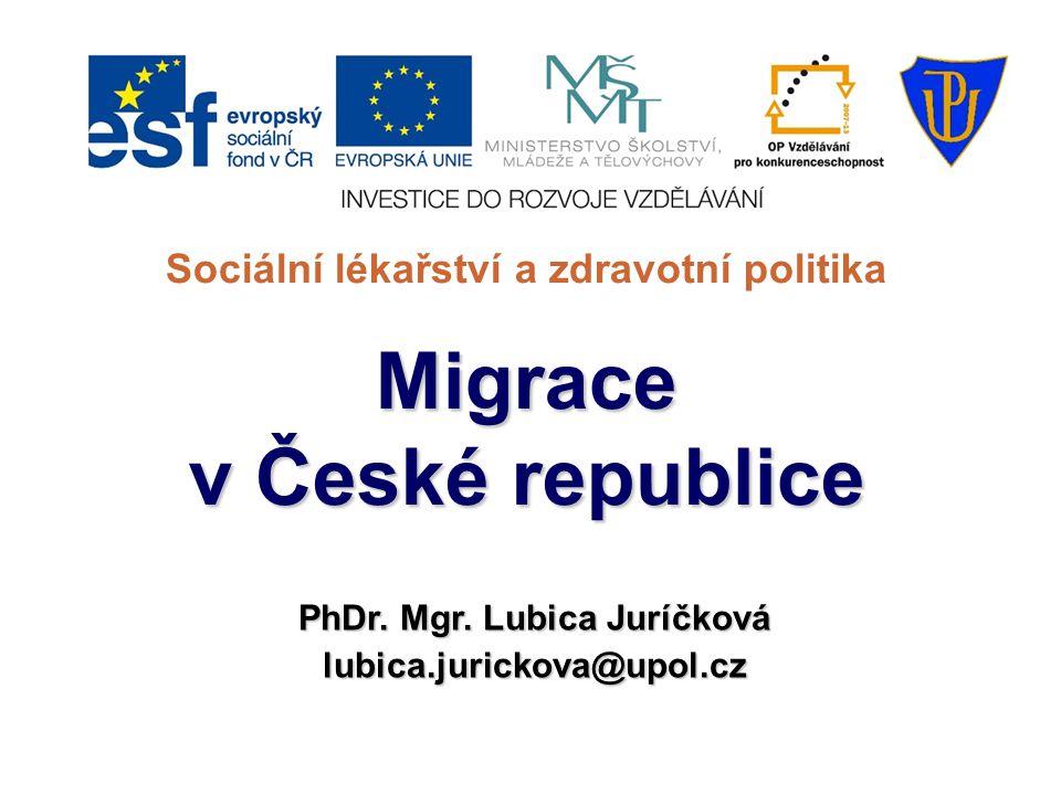 Sociální lékařství a zdravotní politika PhDr. Mgr. Lubica Juríčková