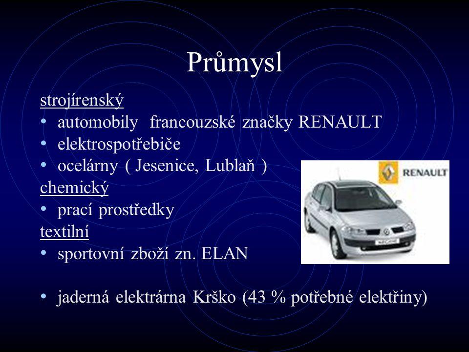 Průmysl strojírenský automobily francouzské značky RENAULT