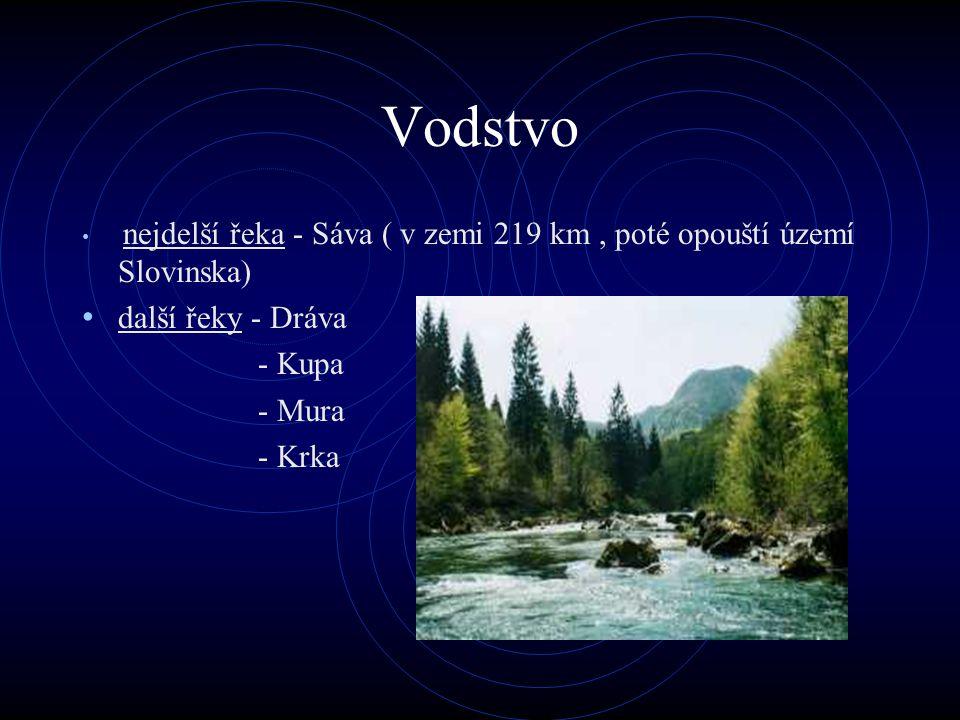 Vodstvo další řeky - Dráva - Kupa - Mura - Krka