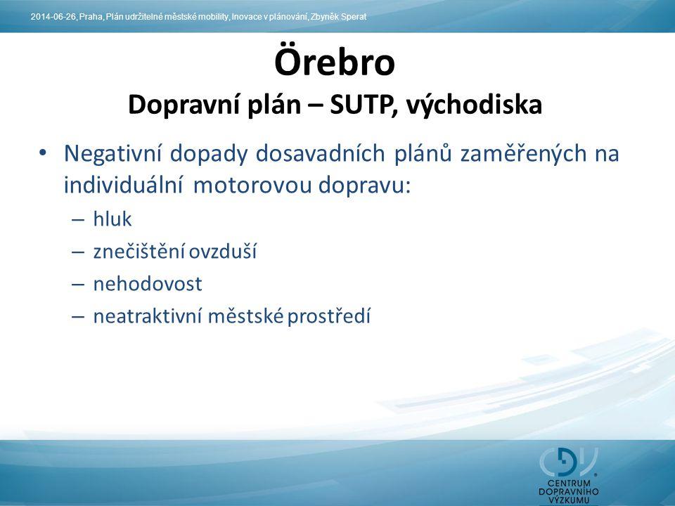 Örebro Dopravní plán – SUTP, východiska