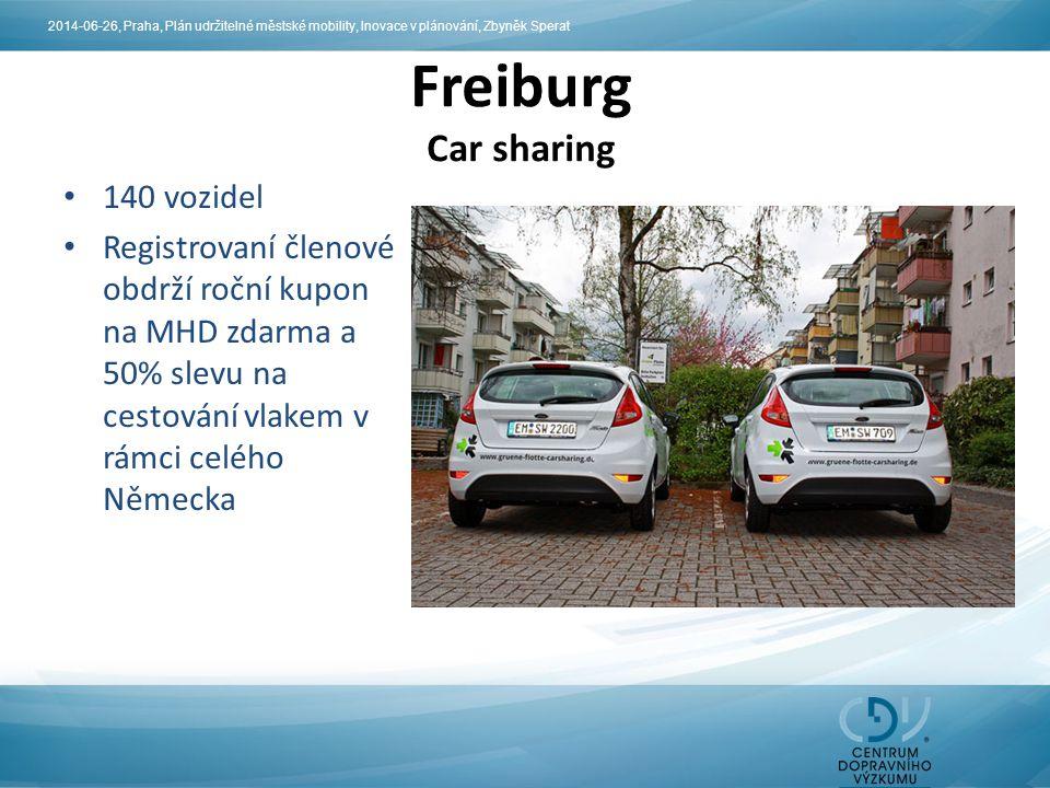 Freiburg Car sharing 140 vozidel