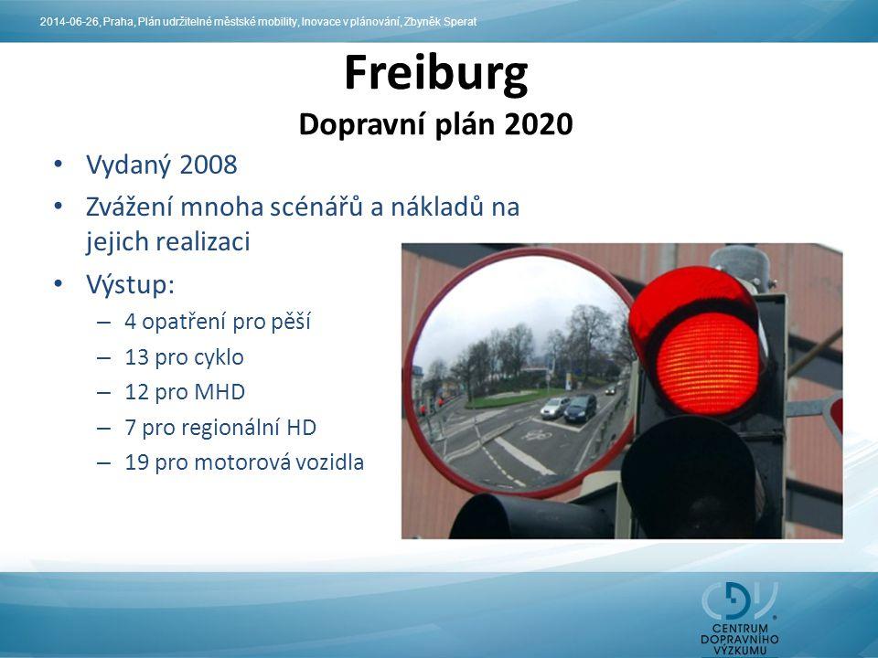 Freiburg Dopravní plán 2020 Vydaný 2008