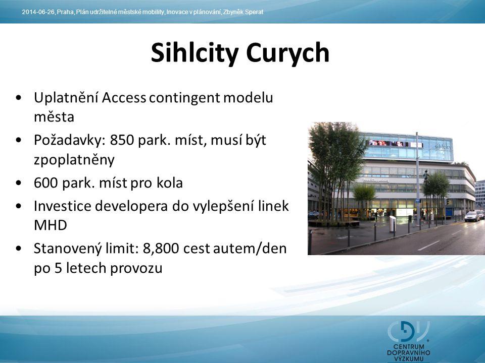 Sihlcity Curych Uplatnění Access contingent modelu města