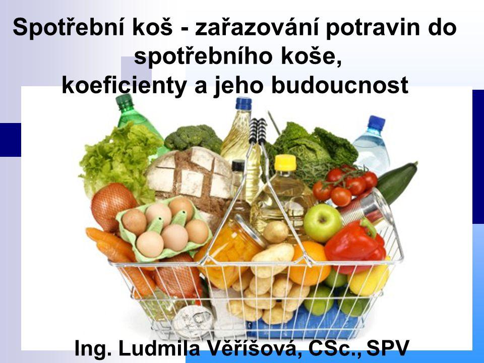 Spotřební koš - zařazování potravin do spotřebního koše,