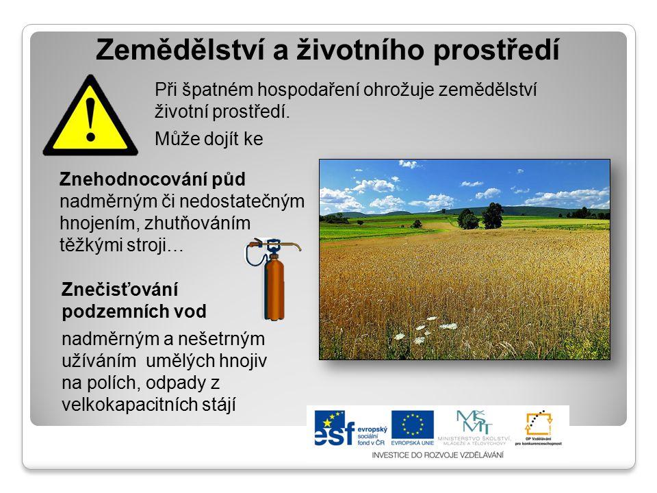 Zemědělství a životního prostředí