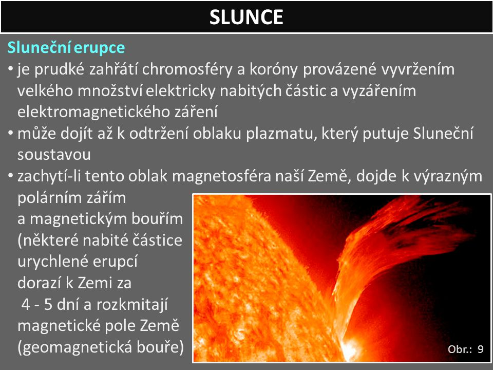 SLUNCE Sluneční erupce