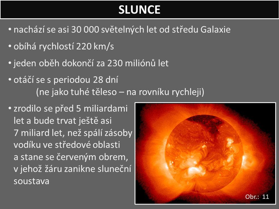 SLUNCE nachází se asi 30 000 světelných let od středu Galaxie
