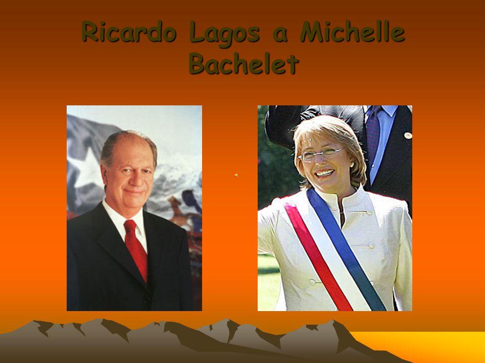 Ricardo Lagos a Michelle Bachelet