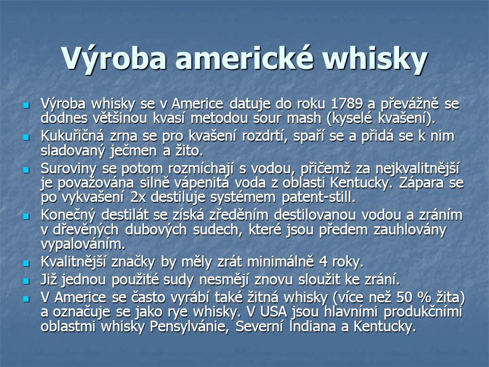 Výroba americké whisky