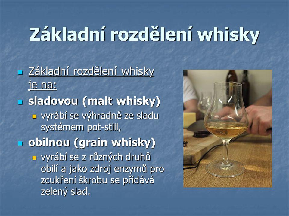 Základní rozdělení whisky